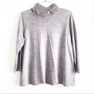 KATE SPADE new york top melange wool M sweater